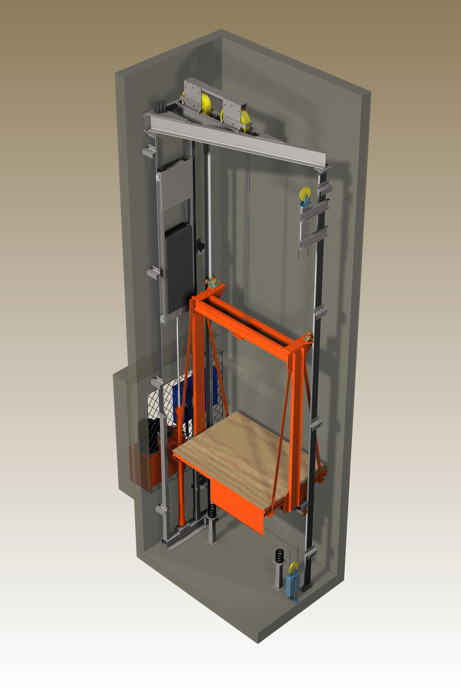 machine roomless hydraulic elevator