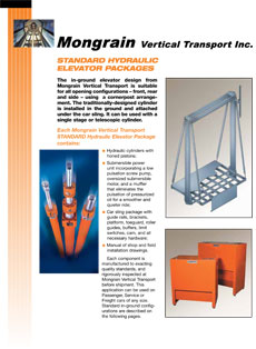 Standard Hydraulic Elevator Packages