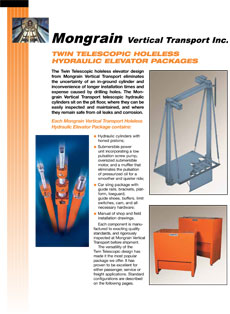 Twin Telescopic Holeless Hydraulic Elevator Packages